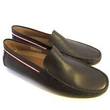 C-1603100 New Bally Drupo Safari Bovine Printed Moccasins Shoes Size US 12 EEE