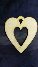 Wooden, MDF Heart with cut out, Craft Shape, Embellishment, Decoration, Wedding!