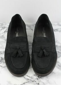 RUSSELL & BROMLEY Black Keeble Nubuck Leather Loafers, Size EU 44.5 / UK 10.5