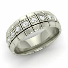 Sim Diamond Mens Wedding Band Gents Anniversary Ring In 925 Sterling Silver
