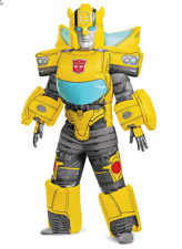 Kids Inflatable The Transformers Bumblebee Costume Boys Halloween Fancy Dress