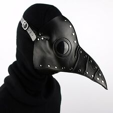 Steam Punk Plague Doctor Mask Bird Beak Gothic Halloween Retro Cosplay Black