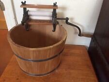 American Wringer Co New York  in half barrel ,crank /Wood/ iron .