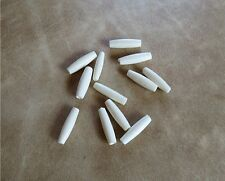 BUFFALO BEADS Carved Bone 2 Tone 1//2 inch Spiral Cut hair pipe 32 bead 1 strand