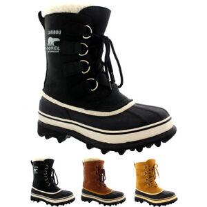 Womens Sorel Caribou Snow Waterproof Winter Fur Lined Mid Calf Rain Boot US 5-10
