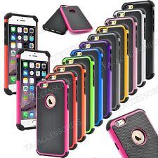 Choque Prueba Doble Capa Constructor Funda Para Apple IPHONE 6s 6 Más Se 5s 5 4s