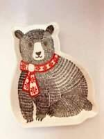 Christmas bear trinket dish 13cm