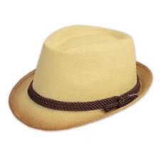Chapeau de Paille Trilby protège-soleil d'été pour hommes femmes