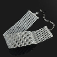 Hot Womens Jewelry Velvet Full Diamond Crystal Rhinestone Collar Choker Necklace