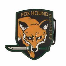 Metal Gear FOX HOUND Logo Metal Enamel BELT BUCKLE