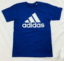 Adidas Men's Shirt Tee Badge of Sport Fill Carded Blue White CW9767 Size XL