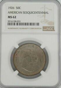 1926 50C American Sesquicentennial NGC MS62