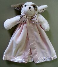 Bearington Baby Collection Pink Brown Dot Puppy Dog SeCuRiTy BLaNKeT Waggles