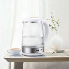 Topwit Electric Kettle Glass, 2L Water Boiler, Water Pot with Auto Shut off Tech