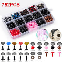 752Pcs Safety Eyes and Safety Noses Washers for Animal Doll Colorful Plastic