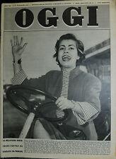 OGGI N°22 /29/ MAG/1952 * LA BELLISSIMA IRENE PAPPAS HA DANZATO COL PRINCIPE *