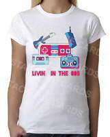 Living in the 80s - Womens White T-Shirt - Geek Retro Fun Kitsch Cute