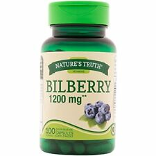 6 Pack Nature's Truth New Bilberry 1200mg 100 Capsules Each