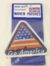 "NOS Vintage "" Go America "" USA United States Souvenir Travel Iron On Patch"