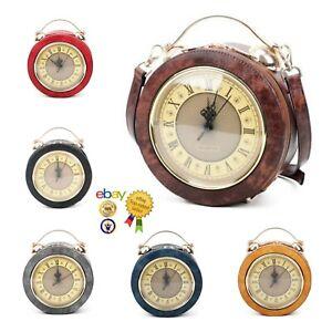 UK Women's Ladies Stylish And Unique Woman Clock Hand Bag/Shoulder Bag 6 Colours