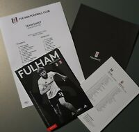 Fulhan v Stoke City Matchday Programme with original teamsheet 29/12/19!!!!