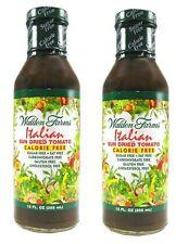 New listing Walden Farms Zero Calorie Free Salad Dressing Sun Dried Tomato Italian 2 Pack