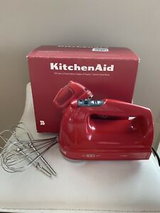 KitchenAid 100 Year Limited Ed Queen of Hearts 7 Speed Hand Mixer Passion Red