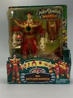 "2002 Power Rangers BANDAI Wild Force Red Battlized Warrior 12"" Figure NIB New"