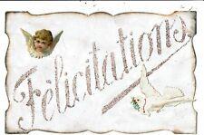CPA-Carte Postale vierge et  dentelée  France-Félicitations  VM6873