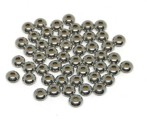 stainless steel saucer beads 5mm x 2.2mm