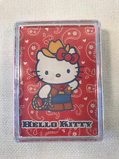 Rare Hello Kitty Western Cowgirl Card Deck in Plastic Case, 2003, NEW SEALED