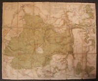 "Orriginal Karte ""Tharandt und Umgebung"" um 1930 Sachsen Saxonica Ortskunde sf"