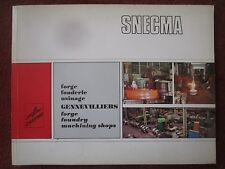 1971 PLAQUETTE SNECMA GENNEVILLIERS FORGE FONDERIE USINAGE FOUNDRY MACHINING