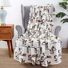 "Berkshire Blankets Queen Size Peanuts Red Baron Velvetsoft Plush Blanket 90""x90"""