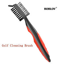 Golf Cleaning Brush 2 Sided Bristle Clean For Groove Shoes Cleaning Lightweight
