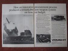 11/1982 PUB LTV VOUGHT US ARMY MLRS MULTIPLE LAUNCH ROCKET SYSTEM ORIGINAL AD