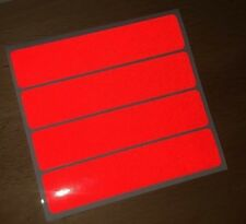 RED retro- Reflective Safety Stickers Bike Motorcycle Helmet Car Waterproof