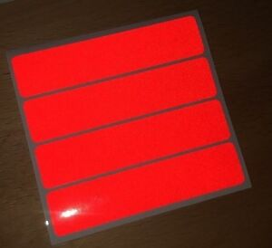 RED retro- Reflective Safety Stickers Bike Motorcycle Helmet Car Waterproof