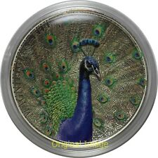 2015 Cook Islands 5$ 1oz Silver Coin Magnificent Life - Peacock