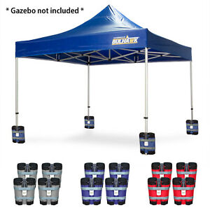 BULHAWK® SET OF 4 HEAVY DUTY POP UP GAZEBO DOUBLE SAND BAGS SUPPORTS WEIGHTS
