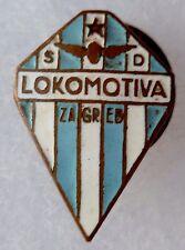 insigne LOKOMOTIVA ZAGREB CLUB FOOTBALL émail ancien ORIGINAL CROATIA LAPEL PIN