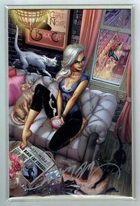 BLACK CAT 1G J SCOTT CAMPBELL signed VIRGIN AMAZING SPIDER-MAN 601 HOMAGE COA NM