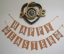 HAPPY EASTER Decoration  Bunting Gifts Banner WITH EASTER EGG hanging Handmade