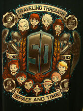 TeeFury Doctor Who 50th Anniversary Traveling Space Time 50 Years L T-Shirt NWOT