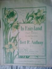 """1910 Vintage sheet music for """"In Fairyland's 'Water Nymphs'"""" by Bert R. Anthony"""