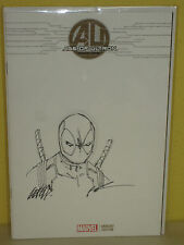 AGE of ULTRON #1 - Original Art Cover by ROB LIEFELD - Deadpool Sketch - MARVEL
