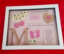 MUM THANK YOU GIFT PERSONALISED PICTURE FRAME MOTHER MUMMY MAM NAN GRAN NANA