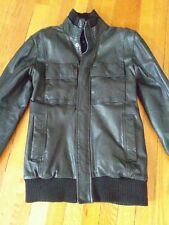 french connection leather jacket MEN SIZE XS