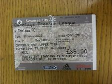 31/01/2012 Ticket: Swansea City v Chelsea  (folded). Thanks for viewing this ite