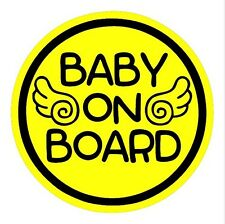 Angel Wings Baby on Board Magnet Decal Safety Caution Sign for Car Bumper